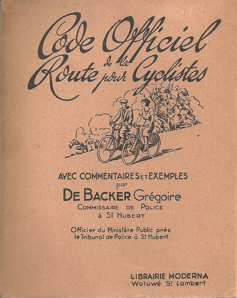 code officiel de la route pour cyclistes